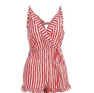 Dresses & Skirts - Red & white romper